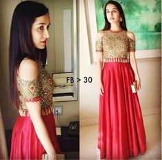 Fabric Details Taffeta Silk gown with Mirror & hand Work (front & back) Dupatta: Net with border lace size up to 38 Indian Dresses, Indian Outfits, Indian Clothes, Indowestern Gowns, Indian Fashion Trends, Kurta Designs, Blouse Designs, Blouse Patterns, Party Wear Lehenga