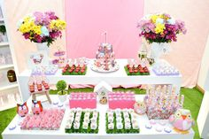 Catarina faz 1: Uma festa de corujinhas. Catarina turns 1: An owl party Decor: Brinke D+