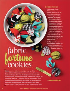 Quilting Arts Episode 504 - Fabric Fortune cookies