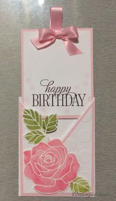Stampin days; rose wonder, criss cross card, birthday card, watercolor rose technique, Stampin' UP!