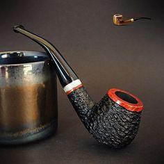 "Mr. Brog WOODEN TOBACCO SMOKING PIPE BRUYERE no 82 "" Consul "" Rustic Briar"