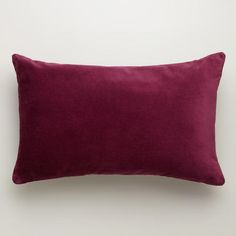 One of my favorite discoveries at WorldMarket.com: Fig Velvet Lumbar Pillow
