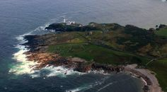 Aerial shot of Fanad Lighthouse from Irish Air Corps
