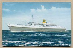 Vintage Holland-American Line Postcard American Line, Holland America Line, Vintage Paper, All Pictures, Netherlands, Im Not Perfect, Ocean, Ship, Prints