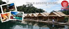 Floating bungalows in Khao Saok National Park with www.trutravels.com #thailand #travel #asia