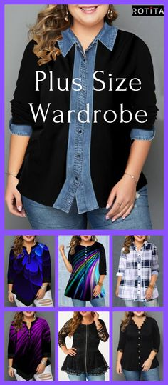 Shop plus size tops Plus Size Tops online,Plus Size Tops with cheap wholesale price,shipping to worldwide Curvy Girl Fashion, Trendy Fashion, Plus Size Fashion, Fashion Tips, Look Plus Size, Plus Size Tops, Plus Size Camisoles, Fall Outfits, Cute Outfits