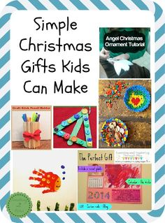 Fun and Simple Christmas Gifts Kids Can Make-Kids loving making things and what better time to make gifts than Christmas.