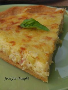 Food for thought Cookie Dough Pie, Savory Tart, Greek Recipes, Food For Thought, Bacon, Quiche, Brunch, Rolls, Food And Drink