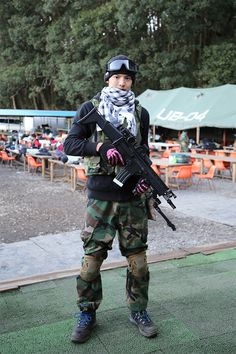 Sorry, Japanese girls with airsoft guns shooting something is