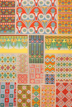 ernests — exercicedestyle:   Egyptian Decorative Ornament
