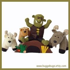 Billy Goats Gruff - PDF Doll Pattern (Goats, Troll, Bridge)
