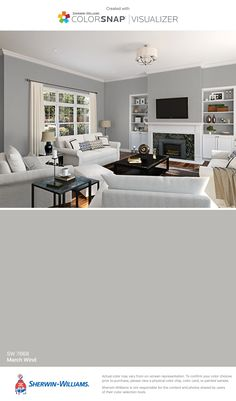 I found this color with ColorSnap® Visualizer for iPhone by Sherwin-Williams: March Wind (SW 7668).