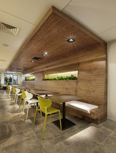 wood wall.  Might be cool to incorporate something similar in dining area of house.