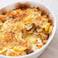 Olive Oil Potato Gratin Recipe - Cook's Country. My good friend tried this last night...it was delicious. I had to have the recipe. Check it out for yourself.