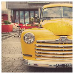 Vintage Car Photography - Ford Super Deluxe, Limited Edition, Fine Art... (£16) ❤ liked on Polyvore featuring cars and backgrounds