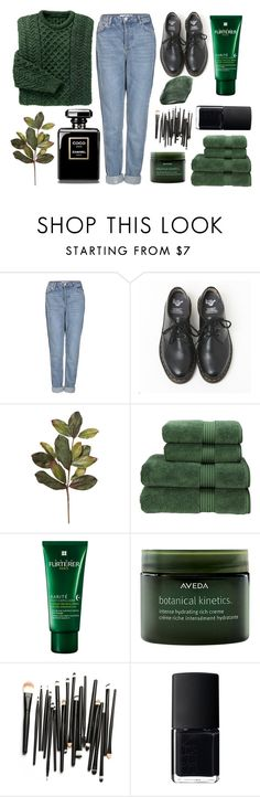 """""""D13th[Green]"""" by oohraven ❤ liked on Polyvore featuring Topshop, Dr. Martens, Christy, Rene Furterer, Aveda and NARS Cosmetics"""