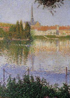 Lucas Island near, Paul Signac. French Pointillist Painter (1863-1935)