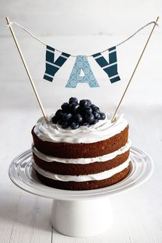 A Huge Announcement + Coconut Blueberry Layer Cake | The Foodie Teen @TheFoodieTeen