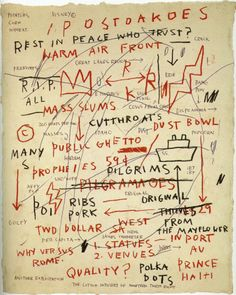 Jean Michel Basquiat  We studied this guy.  Also saw his show at MFAHouston awhile back.