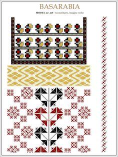 Semne Cusute: din BASARABIA Embroidery Motifs, String Art, Hama Beads, Beading Patterns, Pixel Art, Cross Stitch Patterns, Glass Art, Projects To Try, Kids Rugs