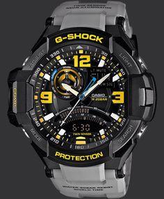 G-Shock Aviation Series Men's Luxury Watch - Grey / One Size Casio Casio G-shock, Casio Watch, Casio G Shock Watches, Sport Watches, Cool Watches, Men's Watches, Black Watches, Wrist Watches, Silver Watches