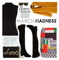 """""""6. March Madness"""" by chubbycinth ❤ liked on Polyvore featuring 'S MaxMara, Oasis, Nine West and Lanvin"""