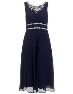 Alma Dress | Navy | Monsoon