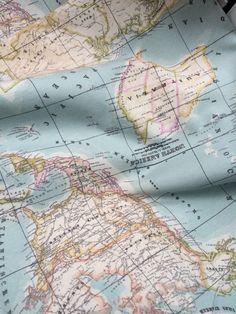 Landkaart stof Karwei