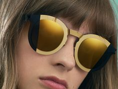 Meet MYKITA STUDIO, a conceptual new eyewear line from the creative core of the modern manufactory. Launching with three capsule collections, MYKITA STUDIO plays with futuristic overtones, graphic illusions and sartorial elements in a highly wearable fashion. Model wears STUDIO 2.2 | With a mirrored split-screen design this oversize frame makes a radical, graphic statement. https://mykita.com/en/mykita-studio