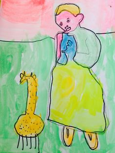 Prep adapted Picasso's Girl with Dove