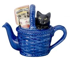 Cat In Basket Teapot (Large) by Carters of Suffolk