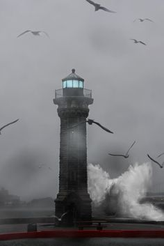 Hurricane Sandy Waves Pounding Roosevelt Island Lighthouse
