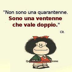 Immagine mafalda Non sono quarantenne
