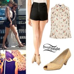 Taylor Swift out in Mystic with Selena Gomez June 21st, 2013 - Taylor Swift Style Steal