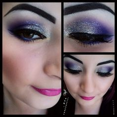 Purple is the perfect color for brown... best thing about brown eyes... Just about any color eye shadow looks amazing