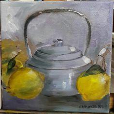 Linda's Kettle - Glenda Chambers (oil) - 20 x 20 alla prima