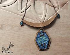 Collier cuir et perles tissées Miyuki par Azetama sur Etsy