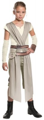 Star Wars Episode 7 - Classic Rey Costume For Girls