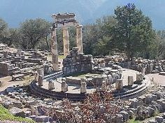 Delphi, Greece. In Greek mythology, Delphi was the site of the Delphic oracle, the most important oracle in the classical Greek world, and a major site for the worship of the god Apollo after he slew the Python, a dragon who lived there and protected the navel of the Earth.