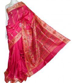 Rani Pink Swarnachari Saree