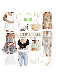 Shopbop sale favorites - everything is an extra 25% off! So many good options from swim to summer dresses to sandals and accessories! Hello Fashion Blog, Swim, Summer Dresses, Shorts, Sandals, Accessories, Shopping, Shoes Sandals, Summer Sundresses
