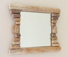 Miroir en bois flotté par l'Atelier de Corinne : Décorations murales par atelier-de-corinne
