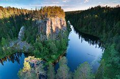Evening light on Ristikallio, Karhunkierros Hiking Trail, Finland.