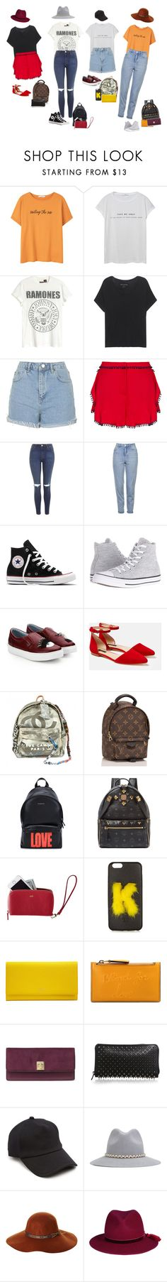 """""""4 side chick"""" by audrey-balt ❤ liked on Polyvore featuring MANGO, True Religion, Topshop, Zeynep Tosun, Converse, Chiara Ferragni, Lafayette 148 New York, Chanel, Louis Vuitton and Givenchy"""