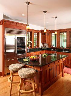 Craftsman kitchen island -- Bethesda Bungalows
