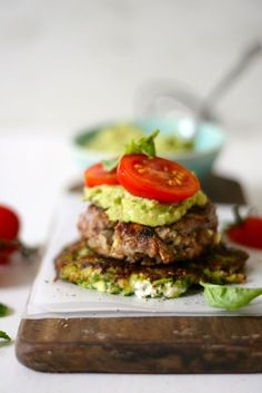 Beef and Feta #Banting Burgers
