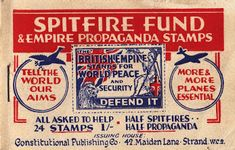 Remembering the Battle of Britain . part 2 the Spitfire Fund The Spitfires, Battle Of Britain, Bake Sale, Booklet, Fundraising, Ww2, Ephemera, 1940s, Stamps