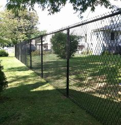 Black Vinyl Coated Chain Link Fence Black Chain Link Fence