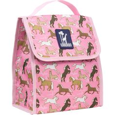 a2a1d45ec4 Horses in Pink Munch  n Lunch Bag Kids Lunch Bags