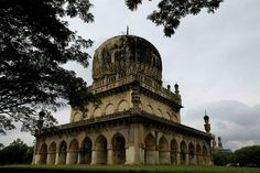 The tombs of the Qutub Shahi kings, who ruled the kingdom of Golconda from 1518 to 1687, are located about 2 kms from the Golconda Fort. The galleries of the smaller tombs are of a single storey while the larger ones are two storied. In the centre of each tomb is a sarcophagus which overlies the actual burial vault in a crypt below.